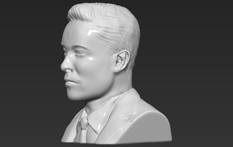 Elon Musk bust ready for full color 3D printing 3D Print 230569