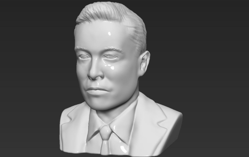 Elon Musk bust ready for full color 3D printing 3D Print 230570