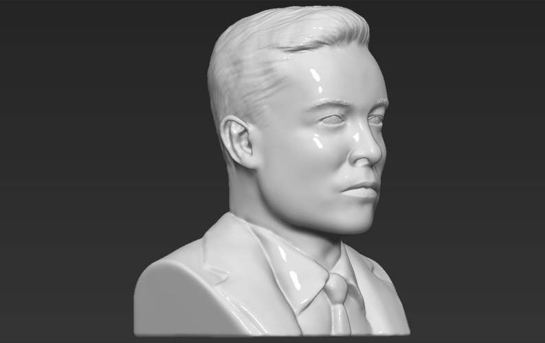 Elon Musk bust ready for full color 3D printing 3D Print 230572