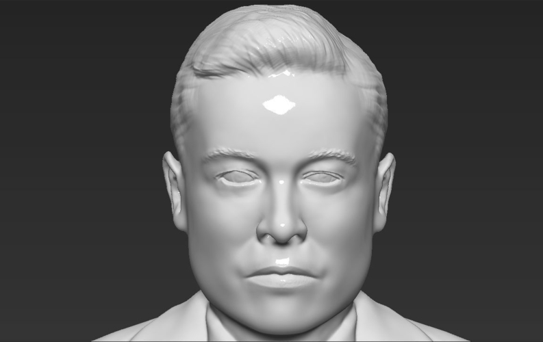 Elon Musk bust ready for full color 3D printing 3D Print 230573