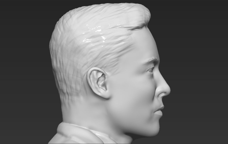 Elon Musk bust ready for full color 3D printing 3D Print 230574