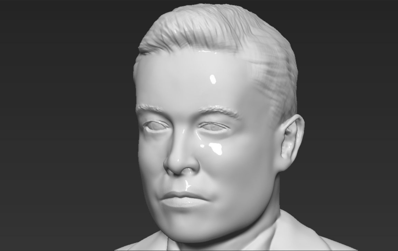 Elon Musk bust ready for full color 3D printing 3D Print 230576