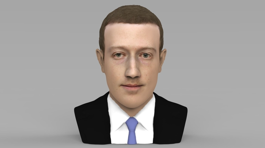 Mark Zuckerberg bust ready for full color 3D printing 3D Print 230579