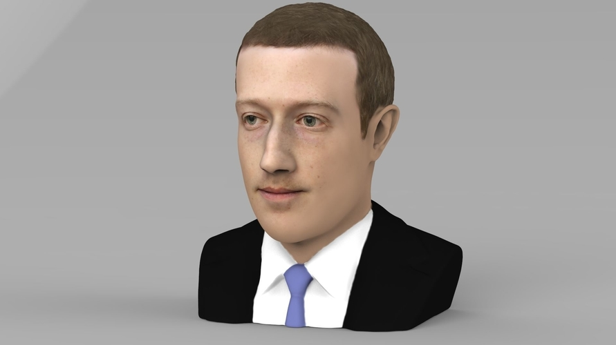 Mark Zuckerberg bust ready for full color 3D printing 3D Print 230580