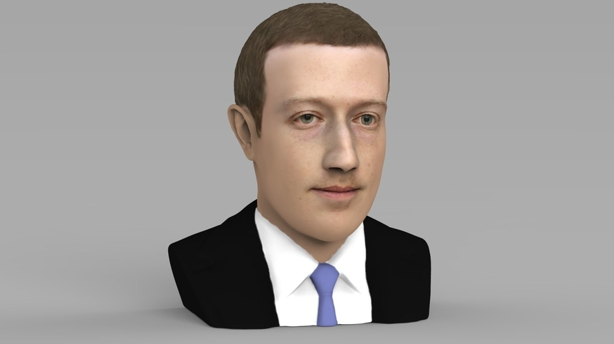 Mark Zuckerberg bust ready for full color 3D printing 3D Print 230581