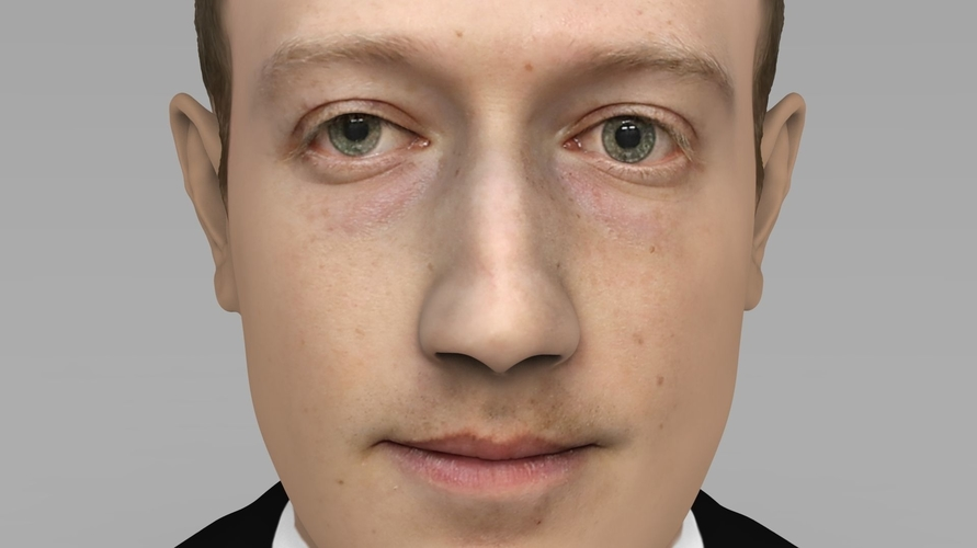 Mark Zuckerberg bust ready for full color 3D printing 3D Print 230582