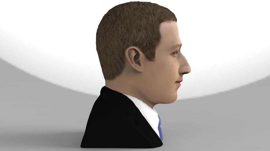 Mark Zuckerberg bust ready for full color 3D printing 3D Print 230583