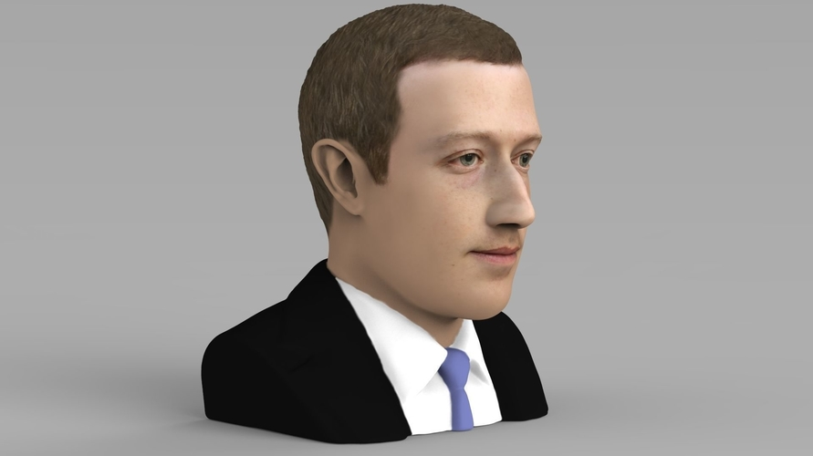 Mark Zuckerberg bust ready for full color 3D printing 3D Print 230584