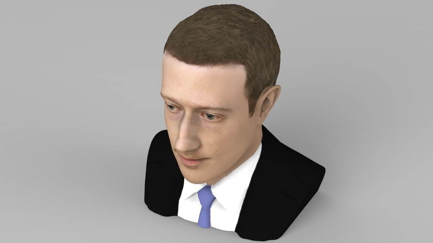 Mark Zuckerberg bust ready for full color 3D printing 3D Print 230585