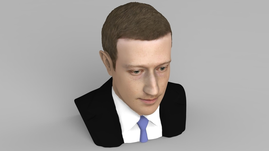 Mark Zuckerberg bust ready for full color 3D printing 3D Print 230586