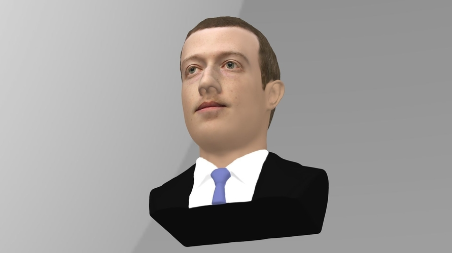 Mark Zuckerberg bust ready for full color 3D printing 3D Print 230587