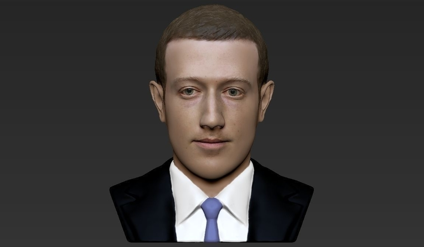 Mark Zuckerberg bust ready for full color 3D printing 3D Print 230588