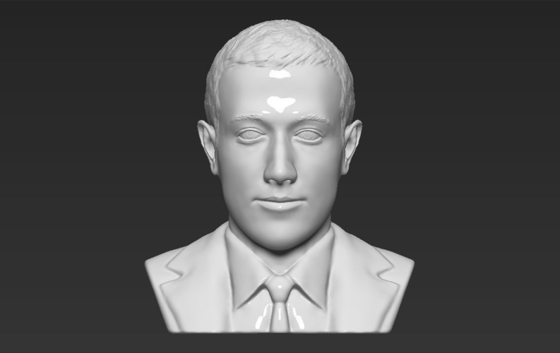 Mark Zuckerberg bust ready for full color 3D printing 3D Print 230590