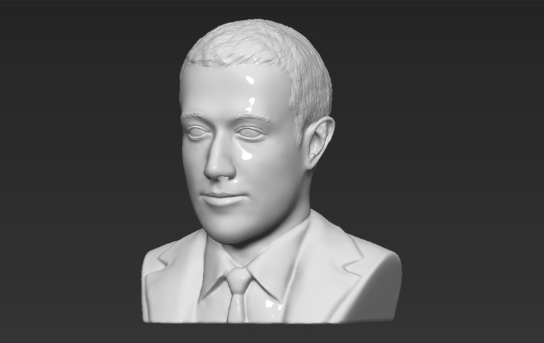 Mark Zuckerberg bust ready for full color 3D printing 3D Print 230591