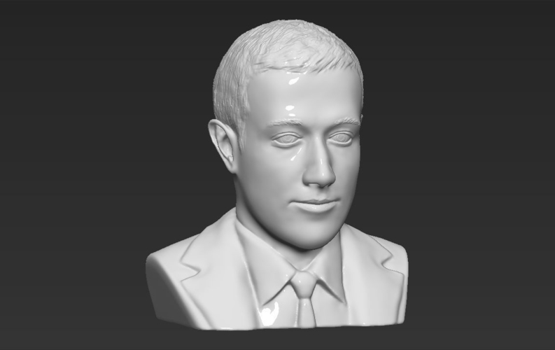 Mark Zuckerberg bust ready for full color 3D printing 3D Print 230592