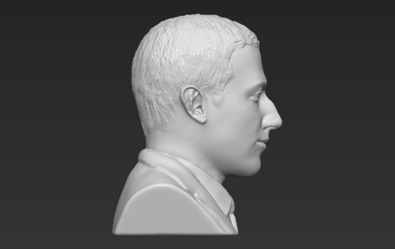 Mark Zuckerberg bust ready for full color 3D printing 3D Print 230595