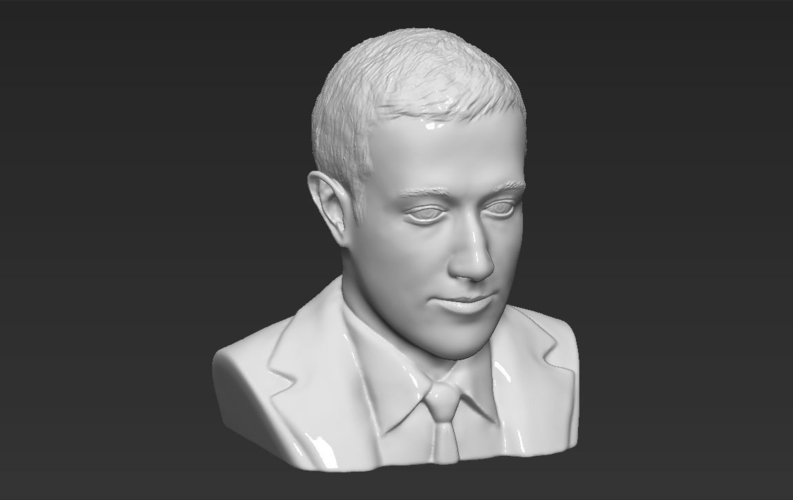 Mark Zuckerberg bust ready for full color 3D printing 3D Print 230597