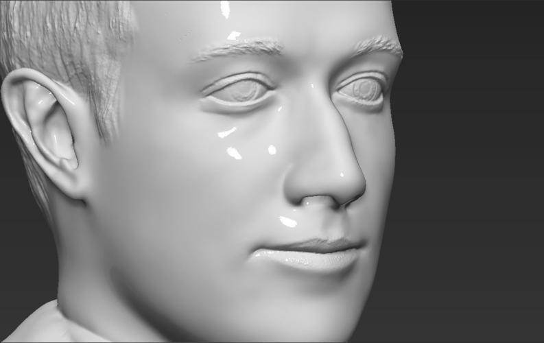 Mark Zuckerberg bust ready for full color 3D printing 3D Print 230598