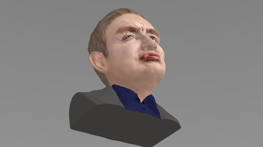 Stephen Hawking bust ready for full color 3D printing 3D Print 230642