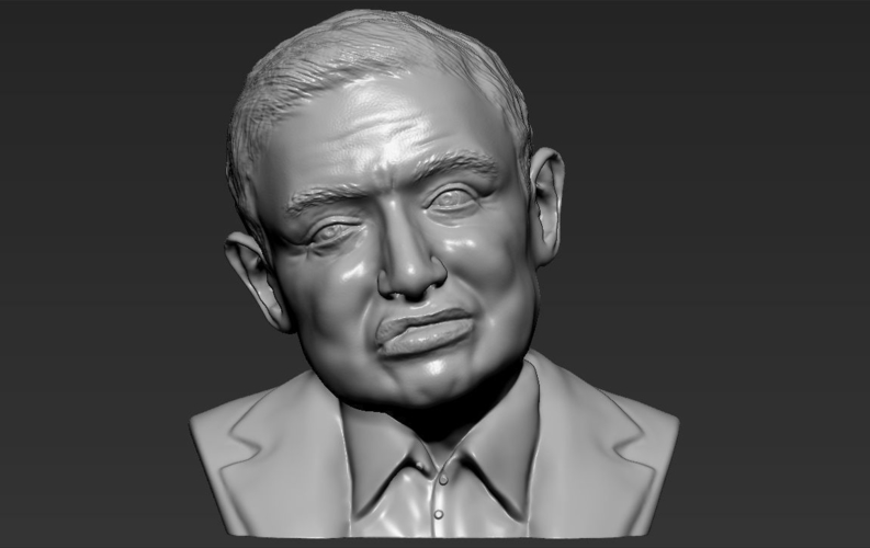 Stephen Hawking bust ready for full color 3D printing 3D Print 230646