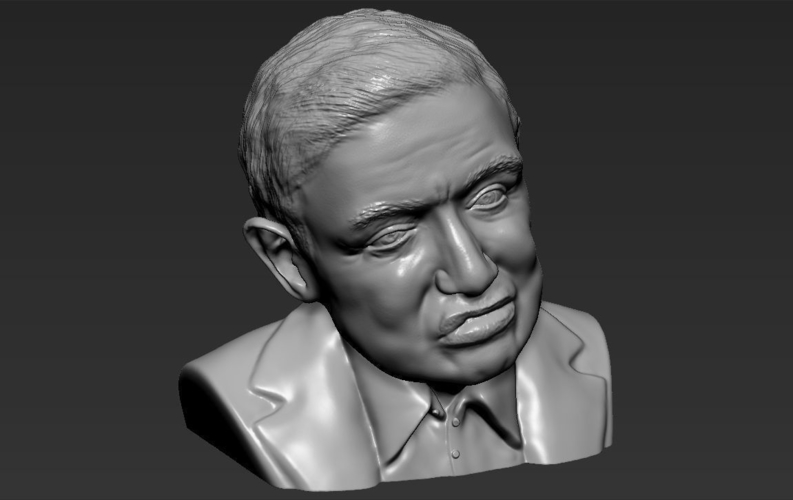 Stephen Hawking bust ready for full color 3D printing 3D Print 230648