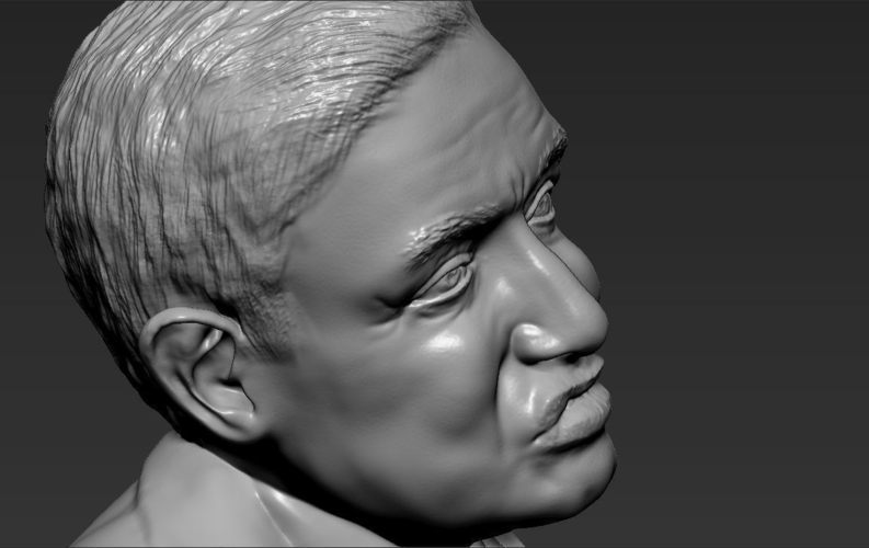 Stephen Hawking bust ready for full color 3D printing 3D Print 230656