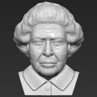 Small Queen Elizabeth II bust 3D printing ready stl obj 3D Printing 230659