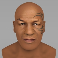 Small Mike Tyson bust ready for full color 3D printing 3D Printing 230716