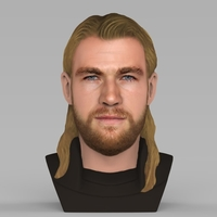 Small Thor Chris Hemsworth Avengers bust full color 3D printing ready 3D Printing 230794