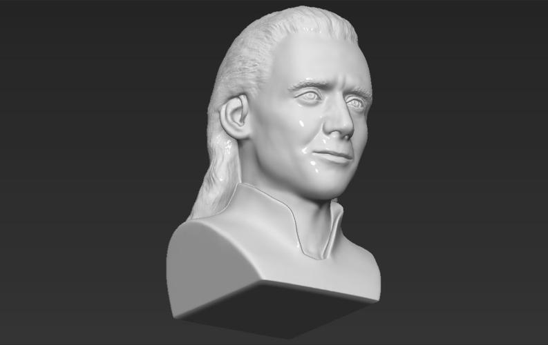 Loki bust 3D printing ready stl obj