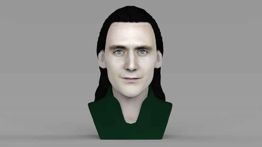 Loki bust ready for full color 3D printing 3D Print 230840