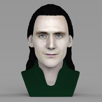 Small Loki bust ready for full color 3D printing 3D Printing 230840