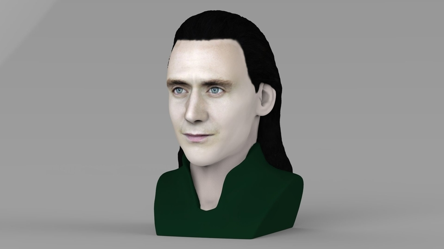 Loki bust ready for full color 3D printing 3D Print 230841