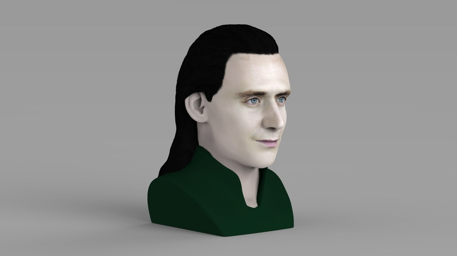 Loki bust ready for full color 3D printing 3D Print 230843