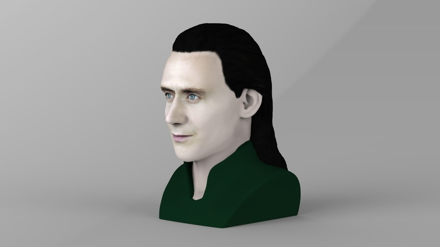 Loki bust ready for full color 3D printing 3D Print 230844