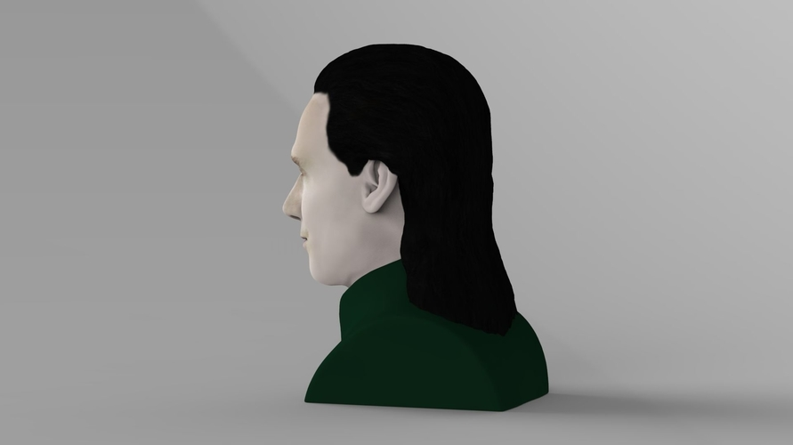 Loki bust ready for full color 3D printing 3D Print 230845