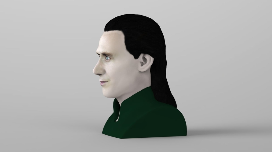 Loki bust ready for full color 3D printing 3D Print 230846