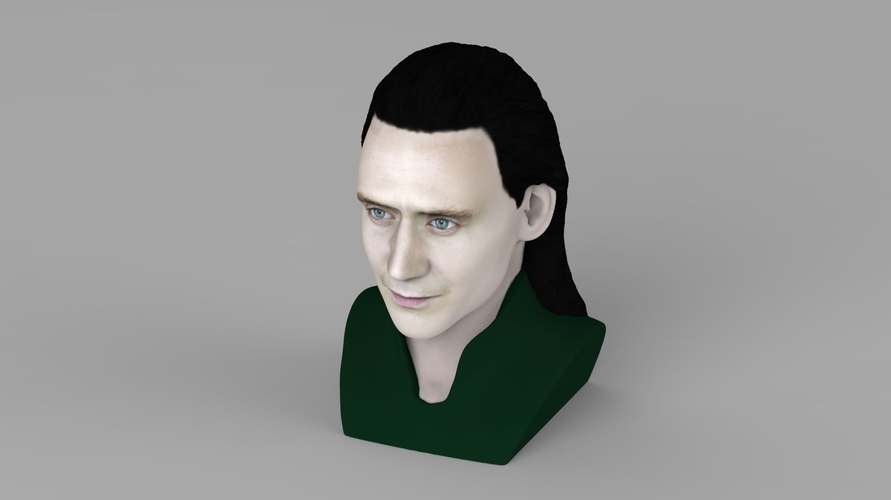 Loki bust ready for full color 3D printing 3D Print 230847