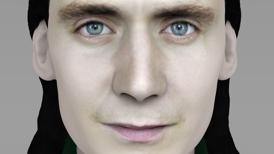 Loki bust ready for full color 3D printing 3D Print 230849
