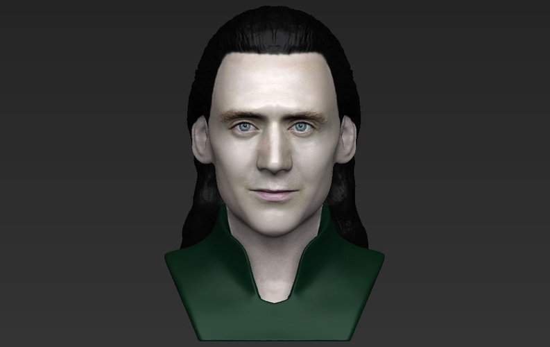 Loki bust ready for full color 3D printing 3D Print 230852