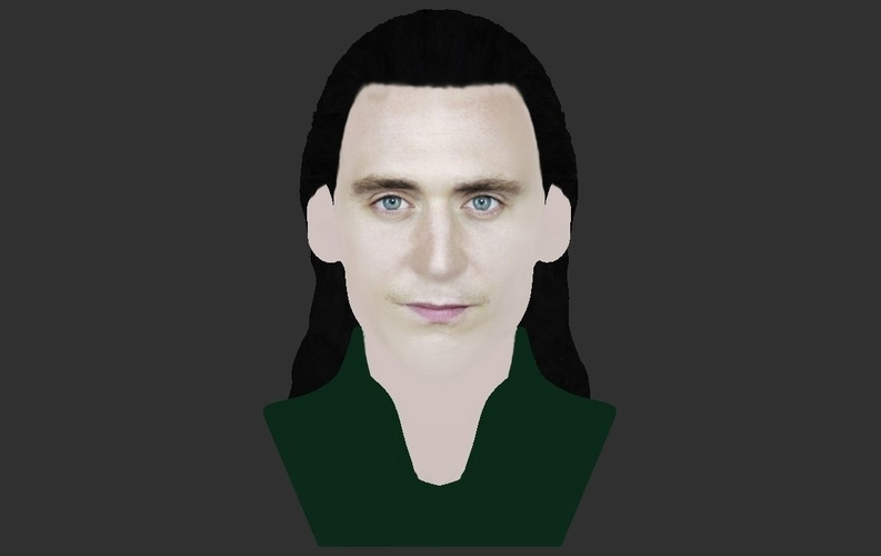 Loki bust ready for full color 3D printing 3D Print 230853