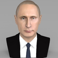 Small Vladimir Putin bust ready for full color 3D printing 3D Printing 231002
