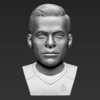 Small Captain Kirk Chris Pine Star Trek bust 3D printing ready stl obj 3D Printing 231027