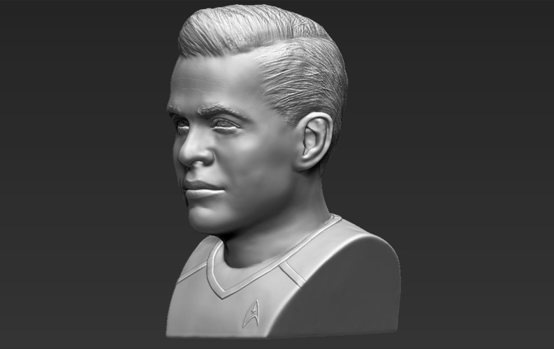 Captain Kirk Chris Pine Star Trek bust 3D printing ready stl obj 3D Print 231028