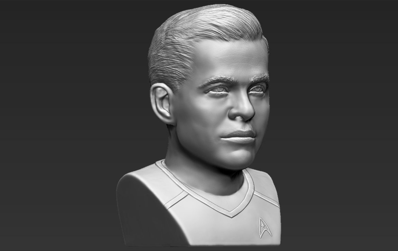 Captain Kirk Chris Pine Star Trek bust 3D printing ready stl obj 3D Print 231033