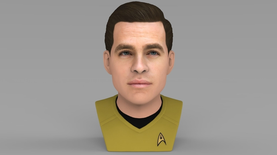 Captain Kirk Chris Pine Star Trek bust full color 3D printing 3D Print 231041