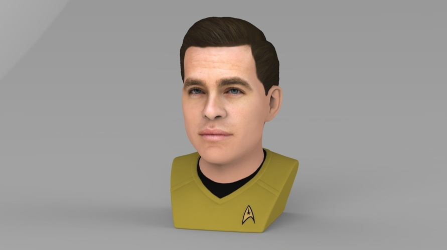 Captain Kirk Chris Pine Star Trek bust full color 3D printing 3D Print 231042