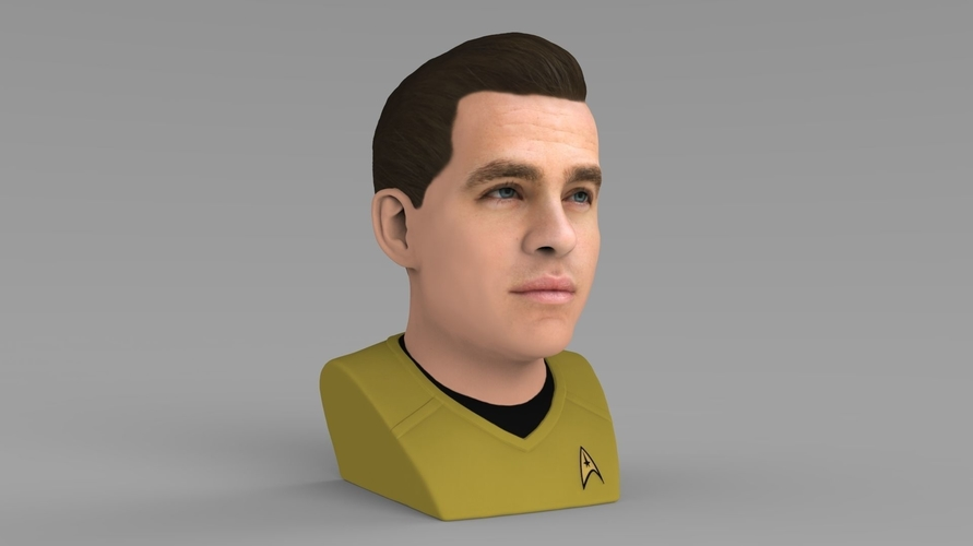 Captain Kirk Chris Pine Star Trek bust full color 3D printing 3D Print 231043