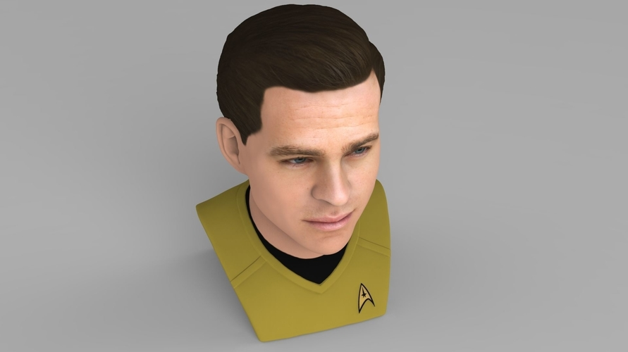 Captain Kirk Chris Pine Star Trek bust full color 3D printing 3D Print 231045