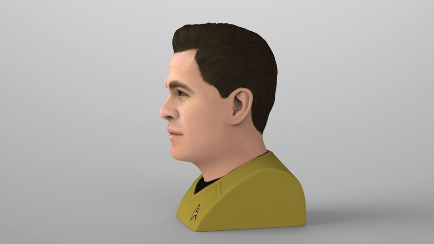 Captain Kirk Chris Pine Star Trek bust full color 3D printing 3D Print 231046